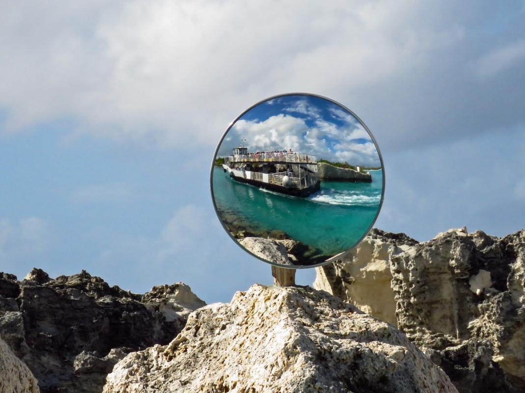 Dorothy  - IMG_7632 Reflections in Half Moon Cay1